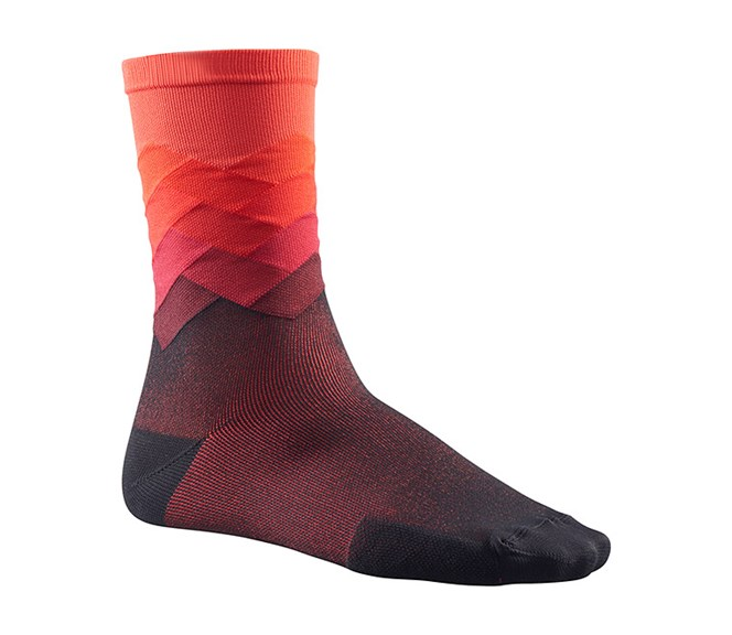 Mavic Cosmic Graphic Sock Fiery Red