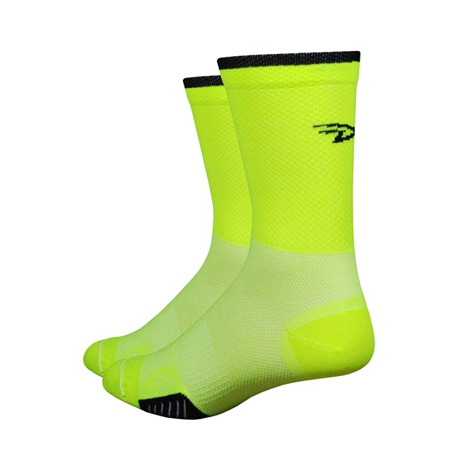 Defeet Cyclismo 5 inch High-Vis Yellow with Black Stripe