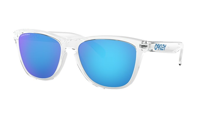 Oakley Frogskins Crystal Clear with Prizm Sapphire