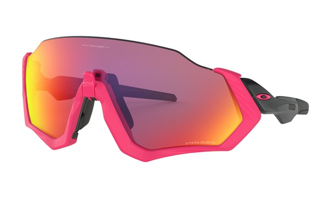 Oakley Fight Jacket Neon Pink with Prizm Road Lens